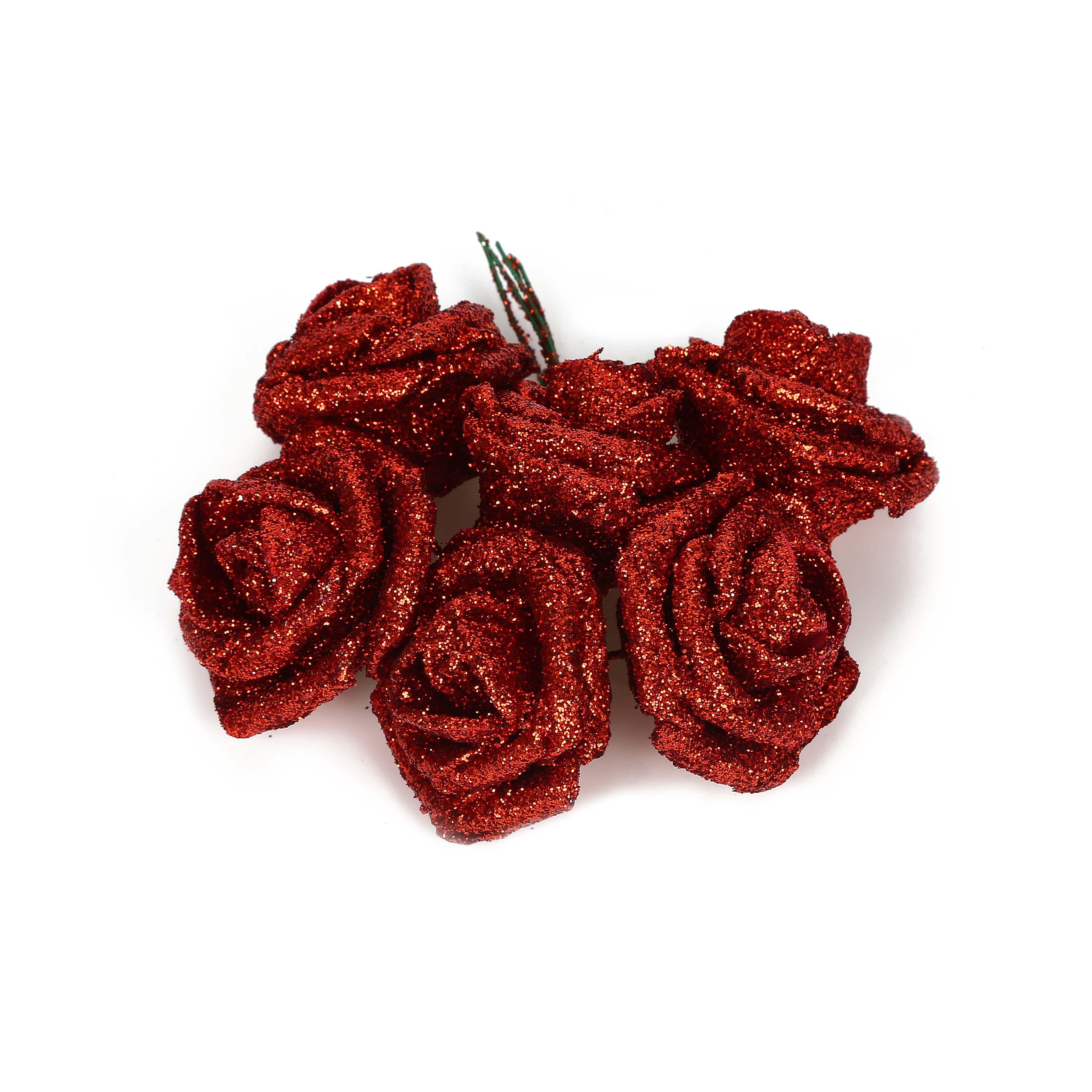 פרחי נצנץ אדומים לעיצוב ( ייחודי )