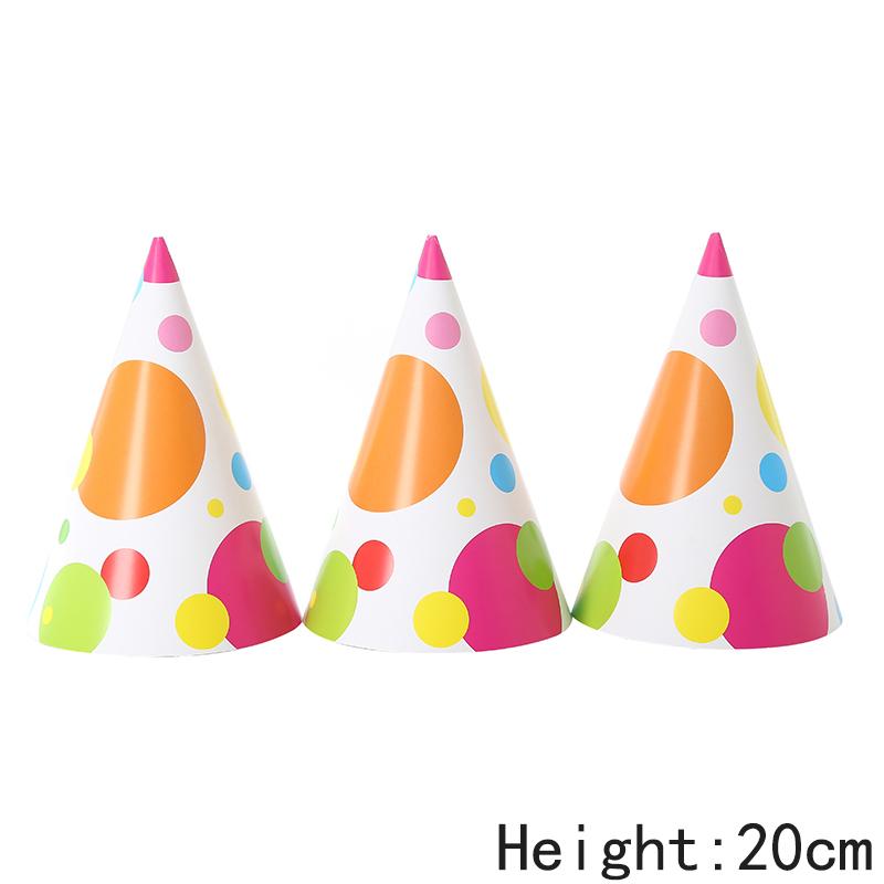 כובעי מסיבה עיגולים צבעוניים