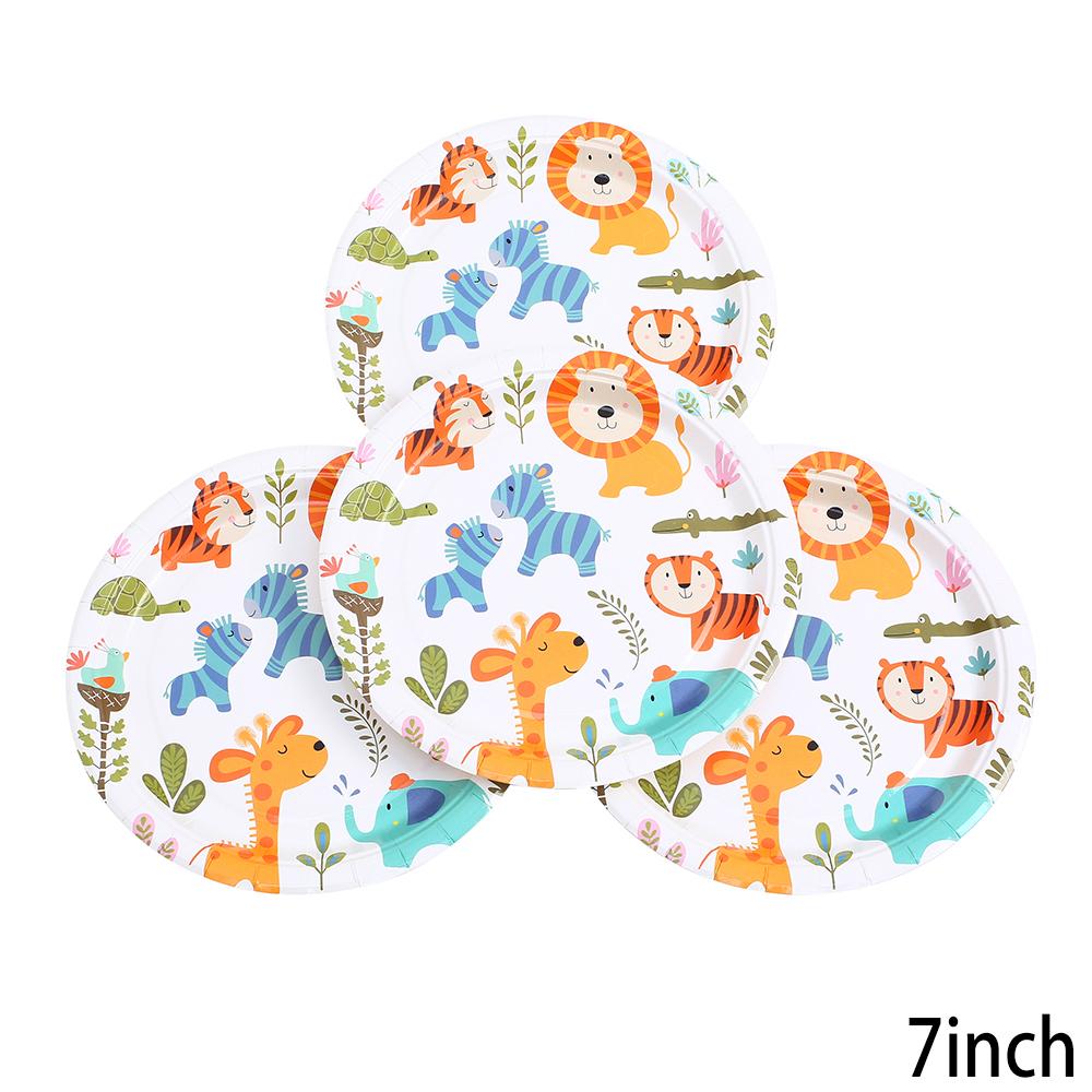 צלחות נייר קטנות בעלי חיים