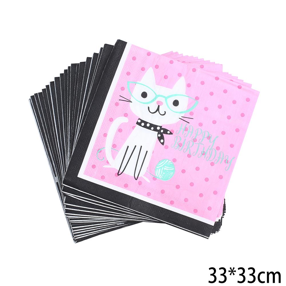 מפיות נייר דו שכבתיות חתול