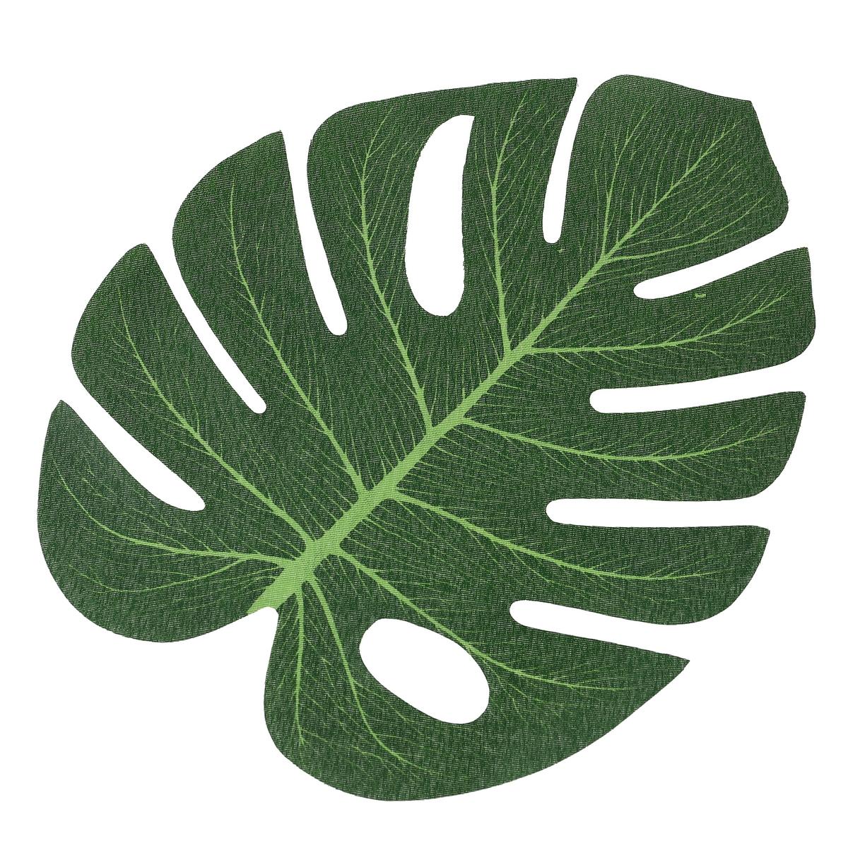עלים טרופיים ירוקים לעיצוב וכפלייסמנט