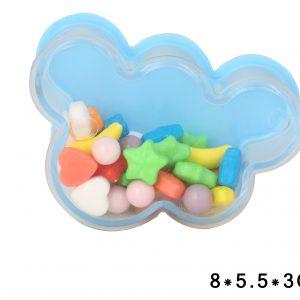 קופסה נפתחת למילוי ענן תכלת שקוף