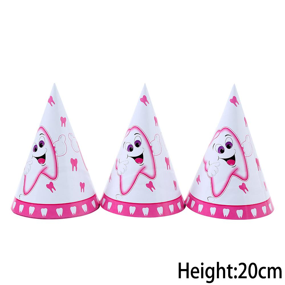 כובעי מסיבה ורודים למסיבת שן