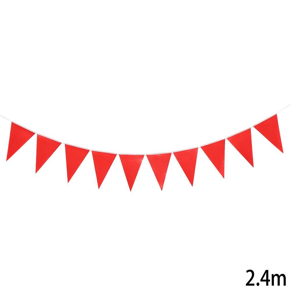 שרשרת דגלים משולשים אדומה