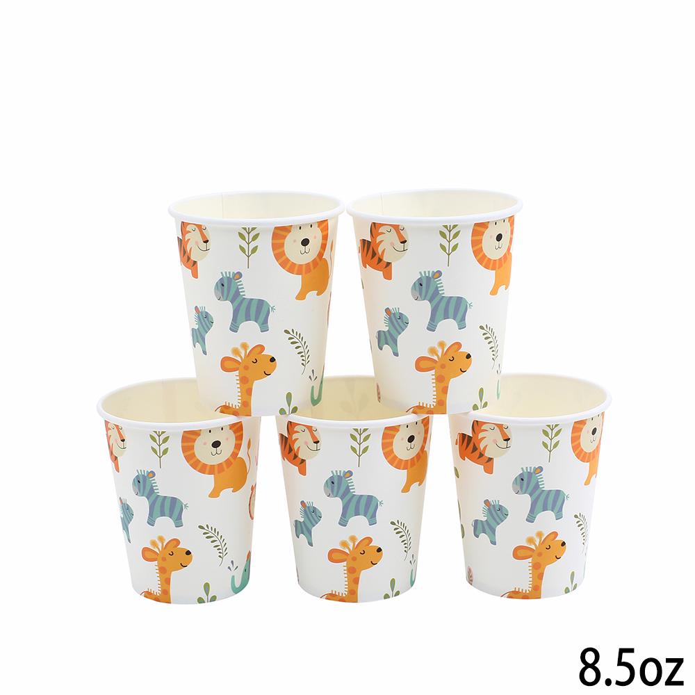 כוסות נייר עבות בעלי חיים
