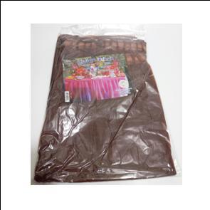 חצאית פלסטיק חומה לעיטור שולחן