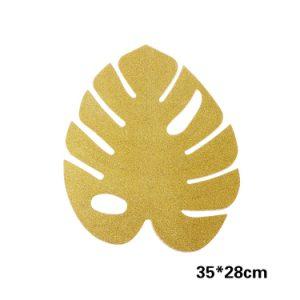 עלים טרופיים זהב לעיצוב וכפלייסמנט ( ייחודי )