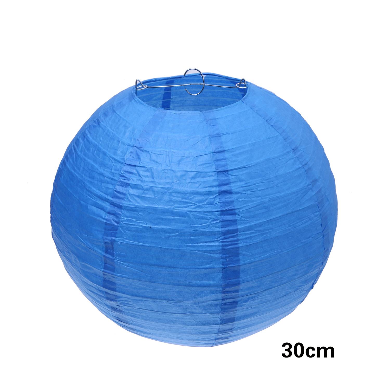 """אהיל כחול כהה קוטר 30 ס""""מ"""