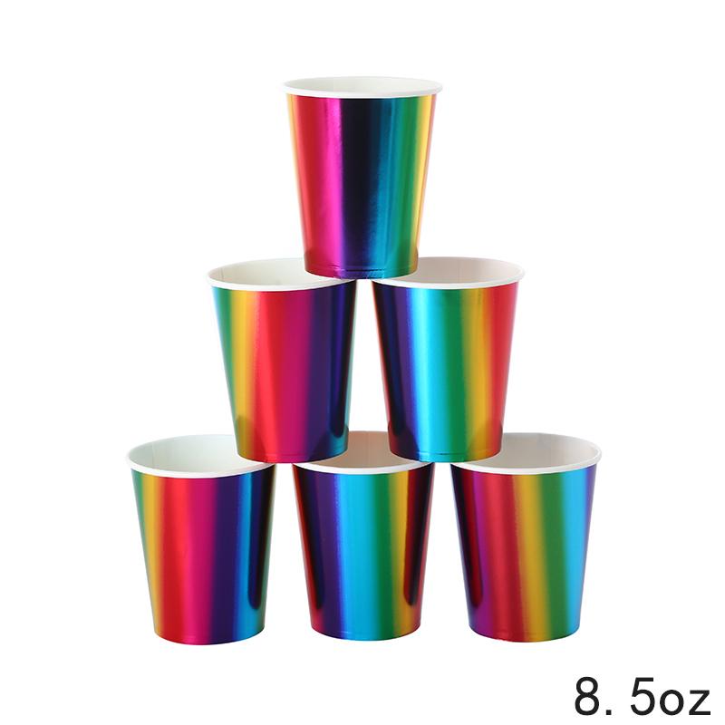 כוסות נייר RAINBOW מטאליות