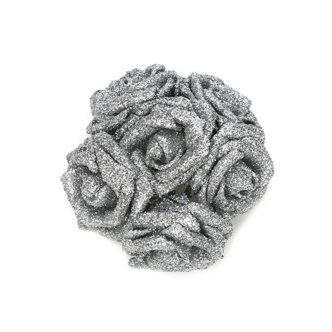פרחי נצנץ כסופים לעיצוב (ייחודי)