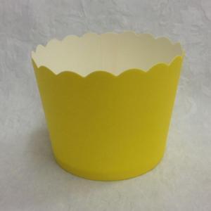 גביעי קאפקייקס צהוב חלק