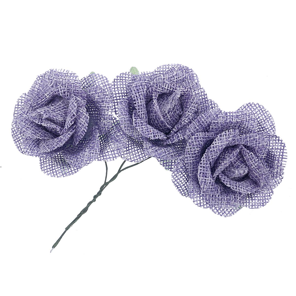 חבק פרח פשתן סגול בהיר לעיצוב