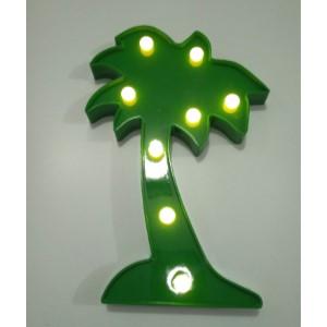 עץ דקל אורות דקורטיבי (לא כולל סוללות)