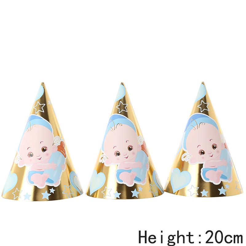 כובעי מסיבה תינוק זהב מטאלי