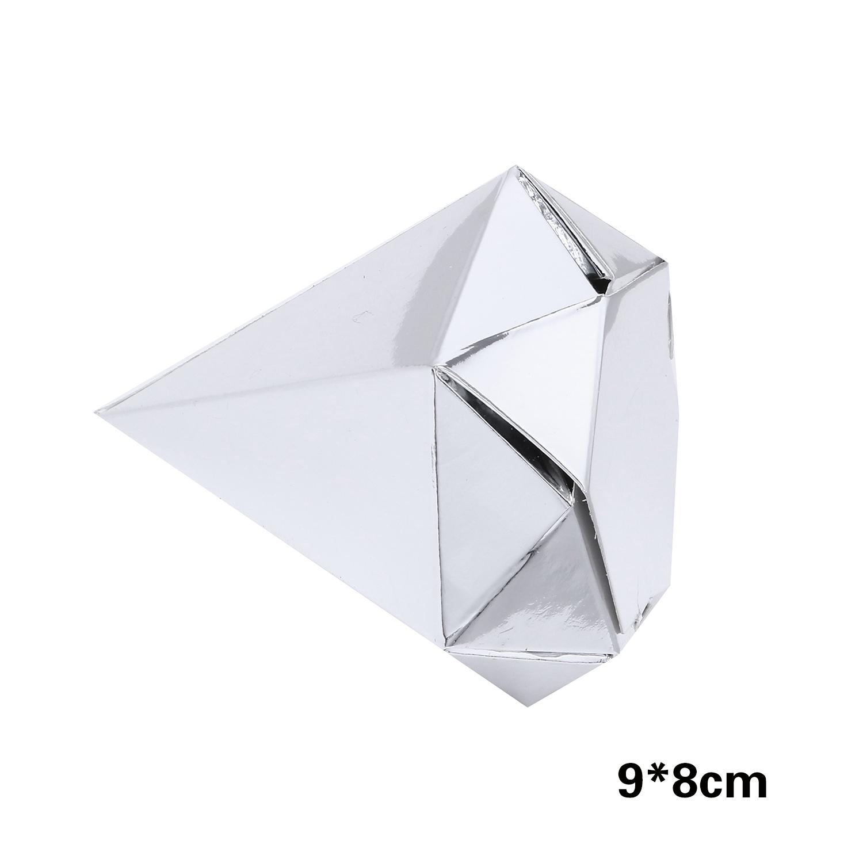 קופסאות קרטון דמוי יהלום – כסף מטאלי