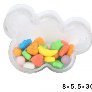 קופסה נפתחת למילוי ענן לבן שקוף
