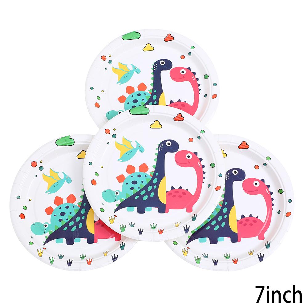 צלחות נייר קטנות דינוזאורים