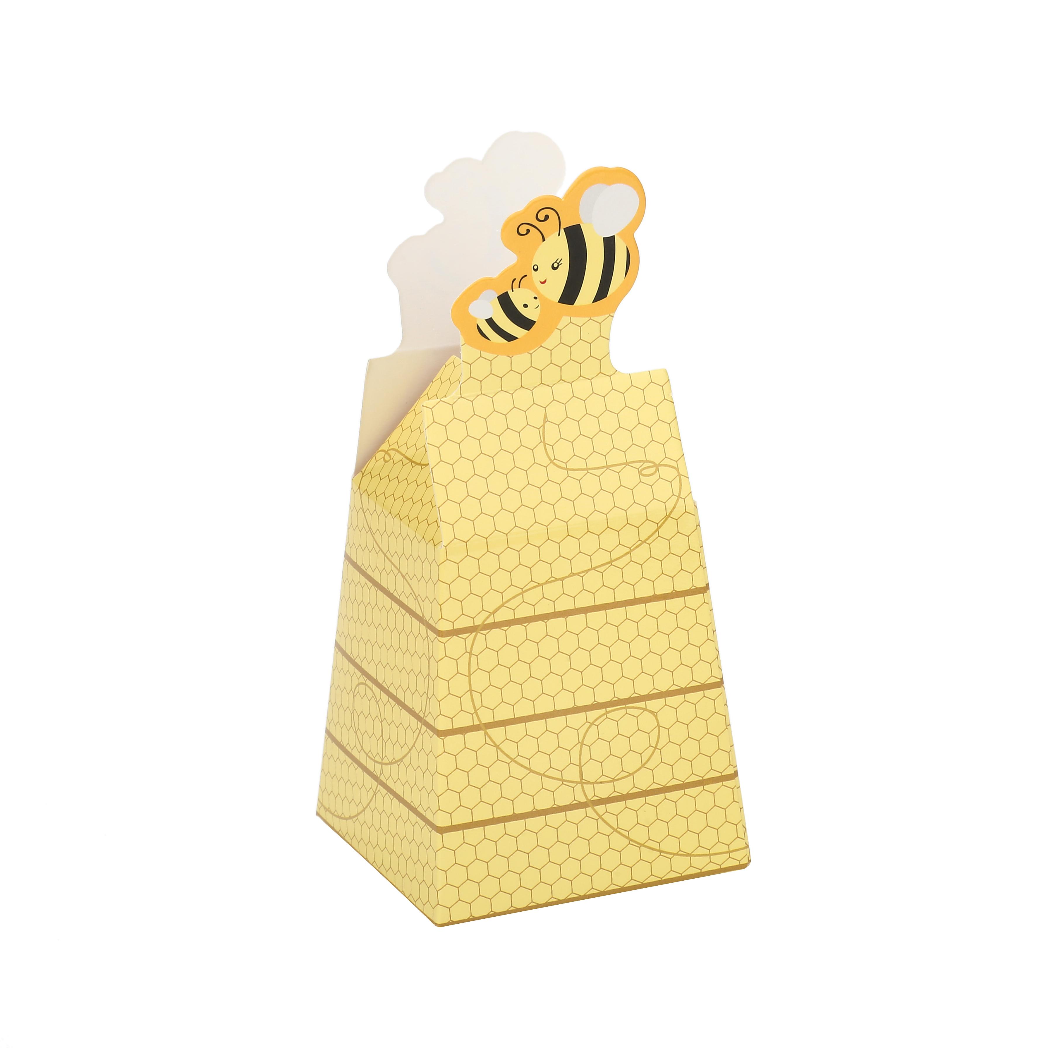 אביזרים לראש השנה - קופסאות קרטון דמוי כוורת עם דבורה א-12 (12)