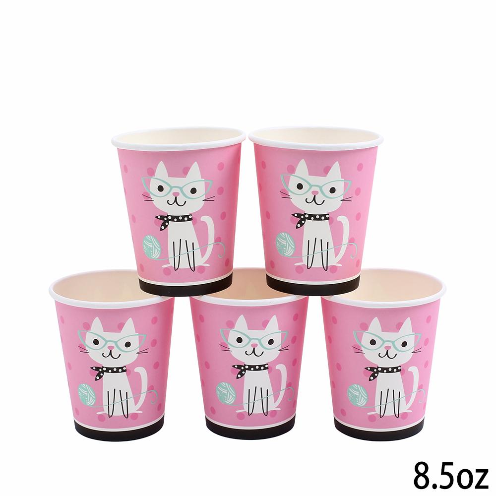 כוסות נייר עבות חתול