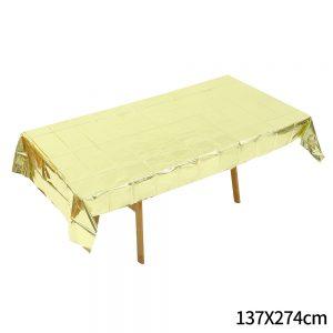 מפת שולחן מטאלית בצבע זהב