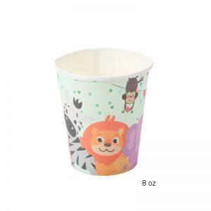 כוסות נייר גן חיות