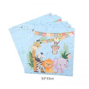מפיות נייר דו שכבתיות גן חיות