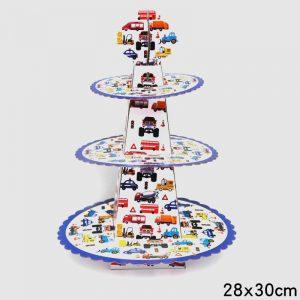 מעמד 3 קומות מכוניות לעוגות וקינוחים (ייחודי)