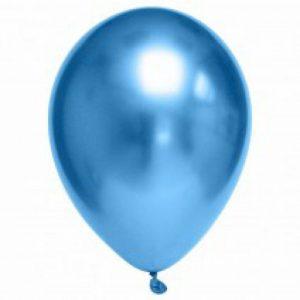 10 בלוני לטקס כרום כחולים