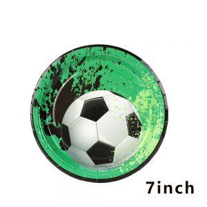 צלחות נייר קטנות כדורגל